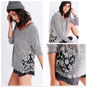 Staring at Stars Lace Inset Pullover Sweater NWOT